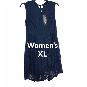 Mavis Laven XL Dress Bridesmaid Wedding Navy NWT